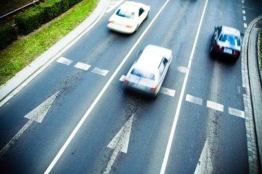 Traffic motion blur