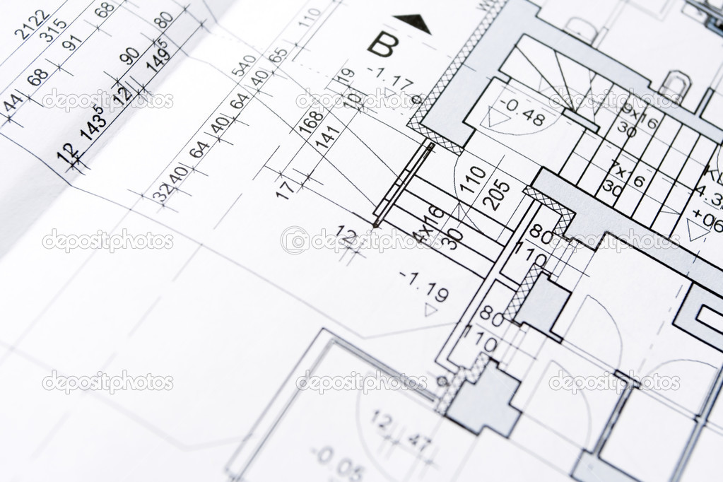 Architect blueprints background Stock Photo blasbike 3673845