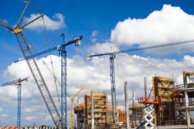 Football stadium construction site