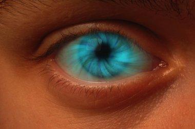 Blue Vortex in an Eyeball