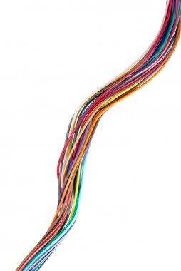 Twisted different colored wires