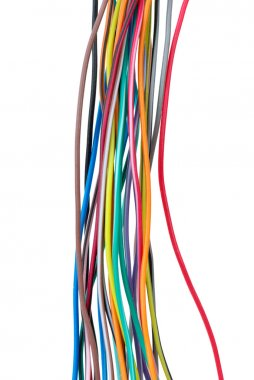 Different colored wires