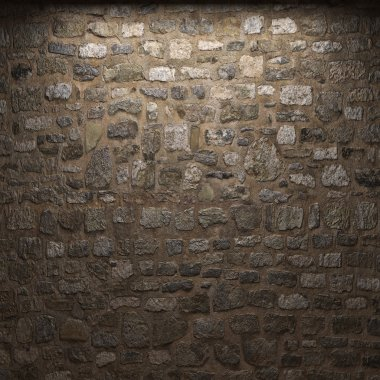 Illuminated stone wall
