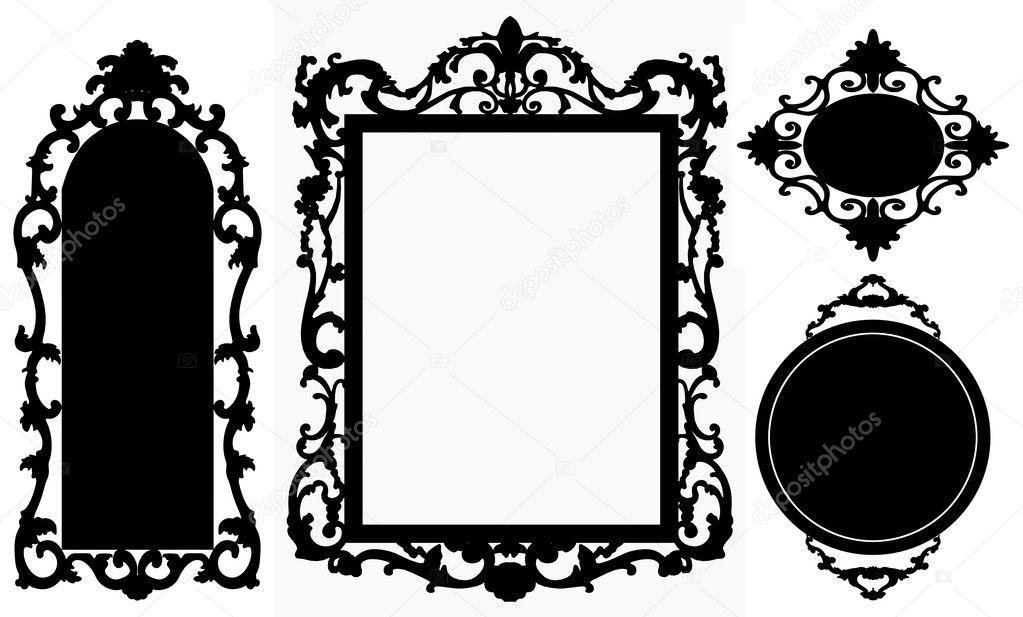 Vintage picture frame. Vector