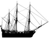 Very hi detailed sailing boat (vector)