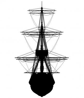 Very hi detailed sailing boat (vector)