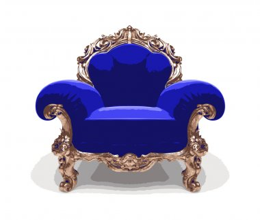 Isolated classic golden chair (vector)