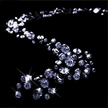 A lot of diamonds (vector)
