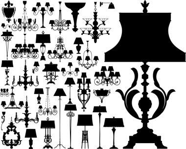 Luxury lighting (vector)