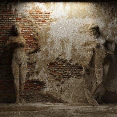 Antique women sculptures