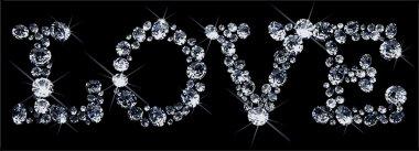 Vector Valentines Day diamonds
