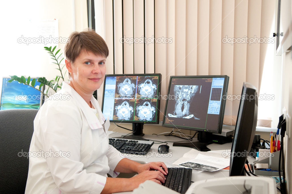 Doctor with CT films