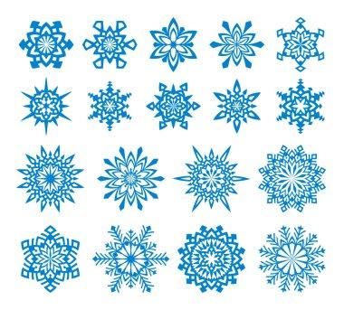 Vector Snowflakes Set 4