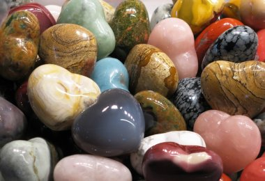 Set of semiprecious stones
