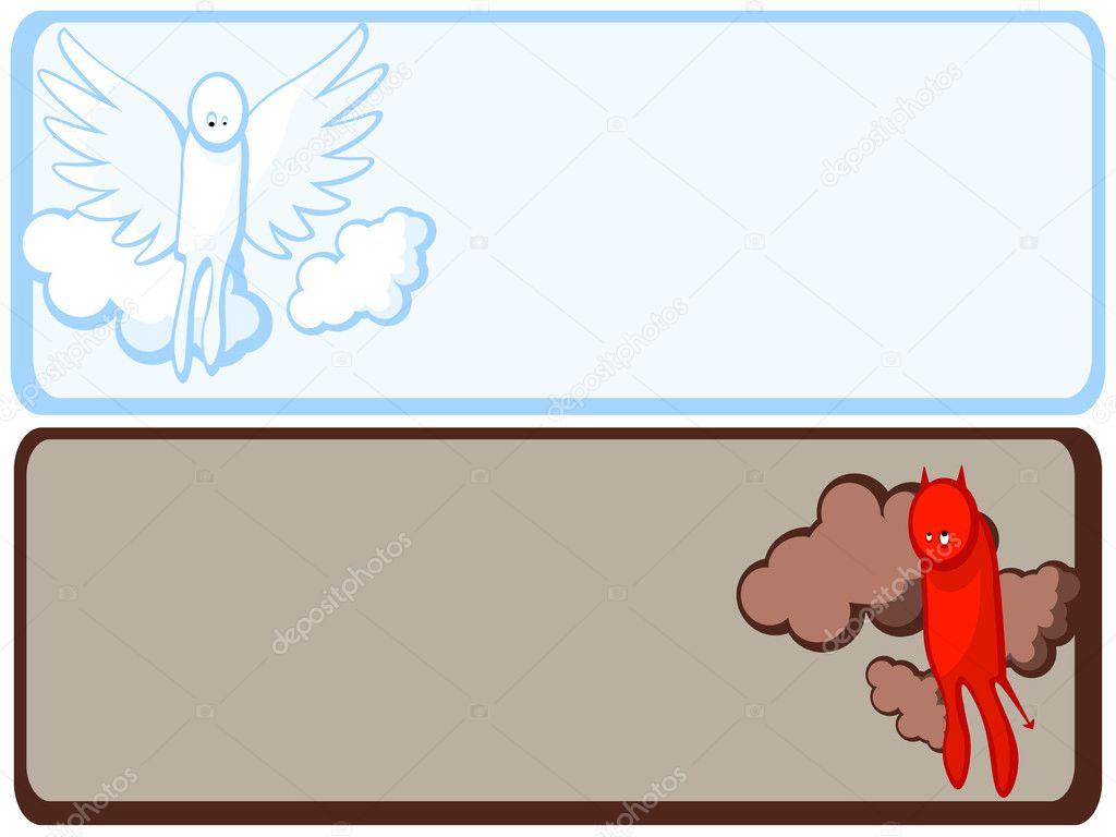 marco de Ángel y demonio — Vector de stock © Irazavod #3010011