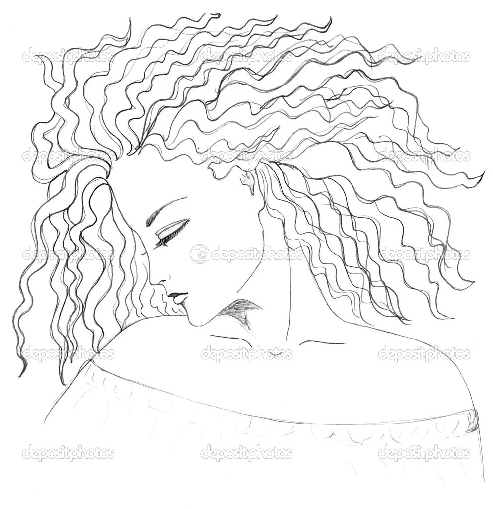 Gesicht haare zeichnen