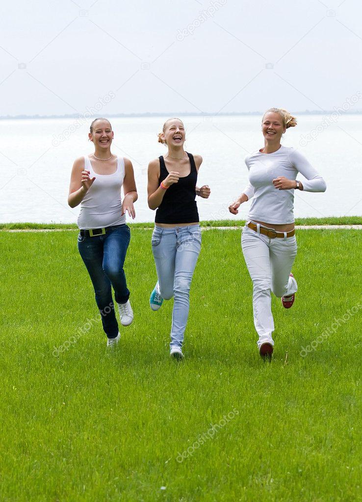 Tree funny girls