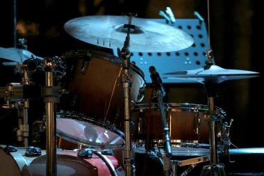 Drum kit on eve concert