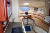 Fotografie neues luxus-yacht-interieur
