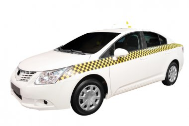 Taxi car isolated