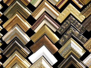 Fragments of wooden frames