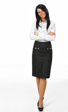Smiling business woman. Isolated