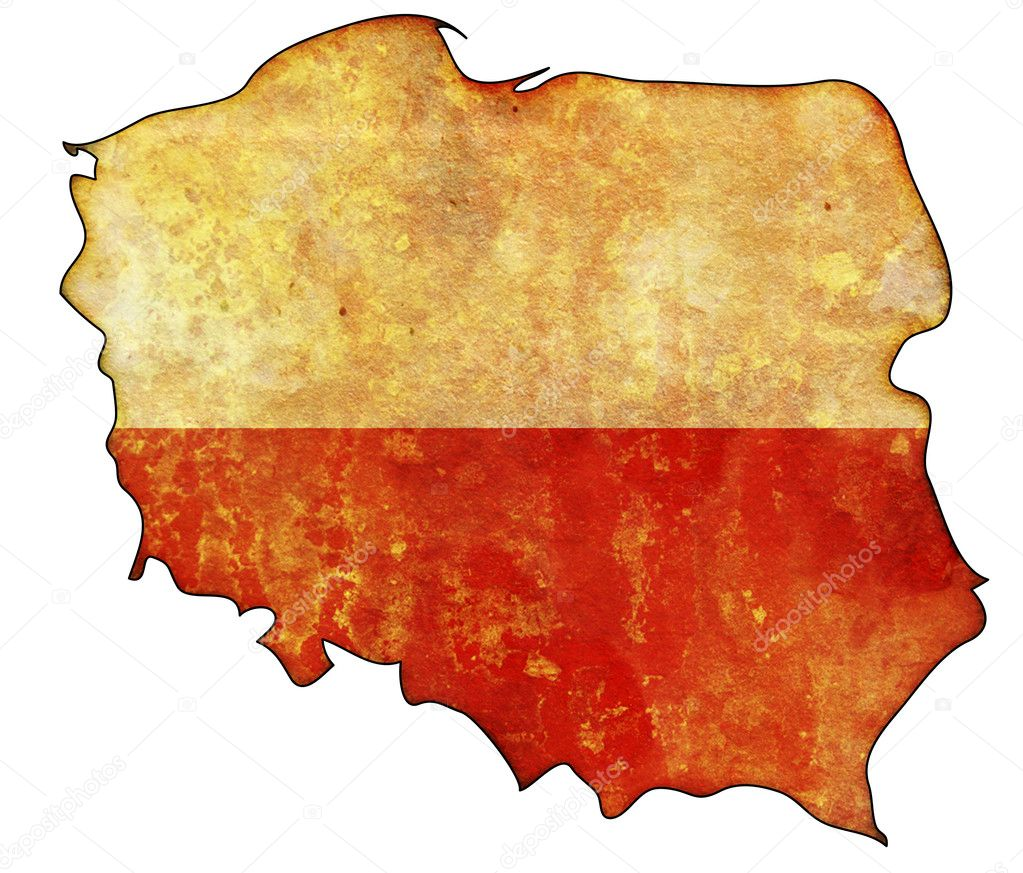 poland flag on territory u2014 stock photo michal812 3171223