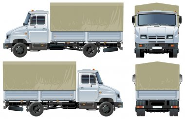 Vector canopy delivery / cargo truck