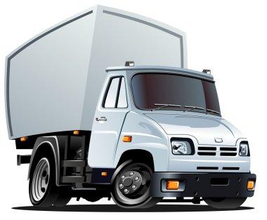 Vector cartoon cargo truck