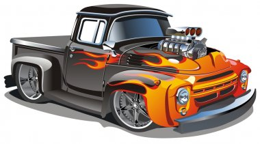 Vector cartoon hot-rod