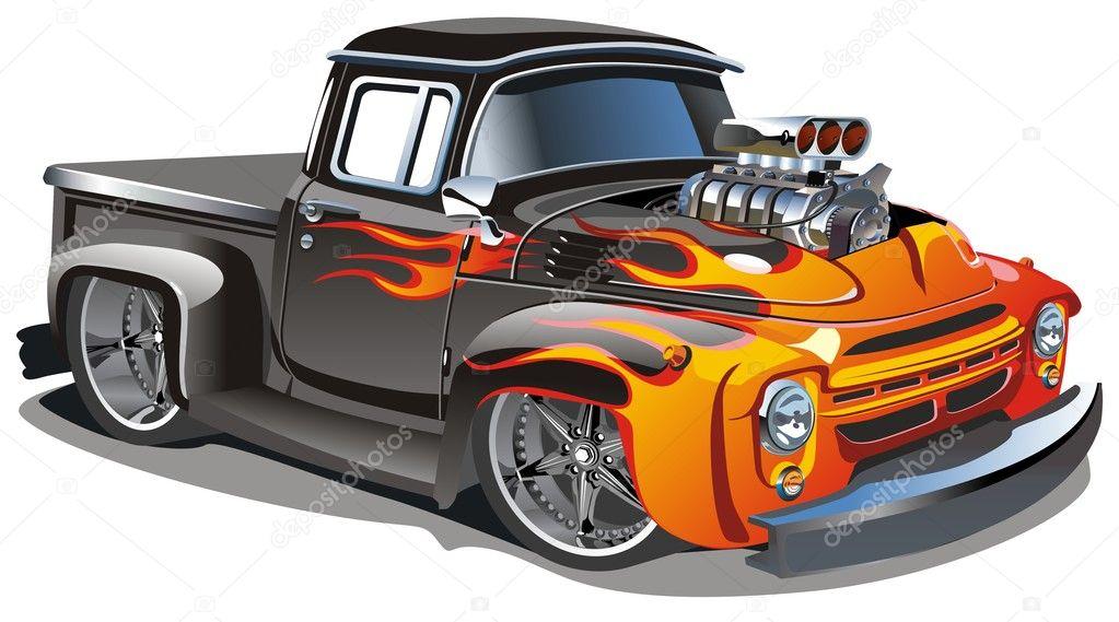 vector cartoon hot rod stock vector mechanik 3537600 rh depositphotos com cartoon hot rod trucks cartoon hot rod trucks