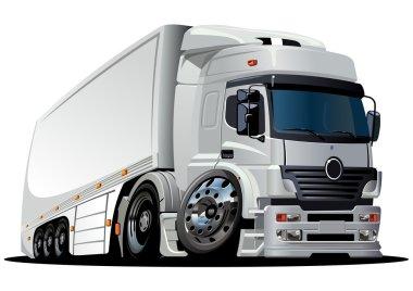 Vector cartoon delivery / cargo semi-truck