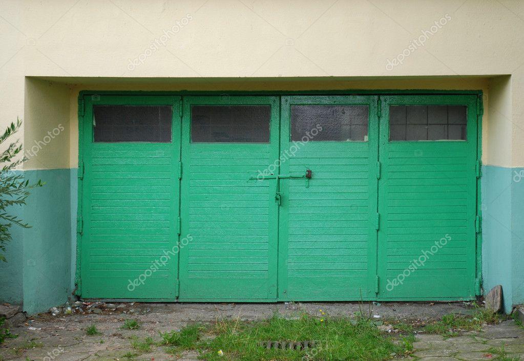 Old Wooden Garage Door Stock Photo Cancerus 3809294