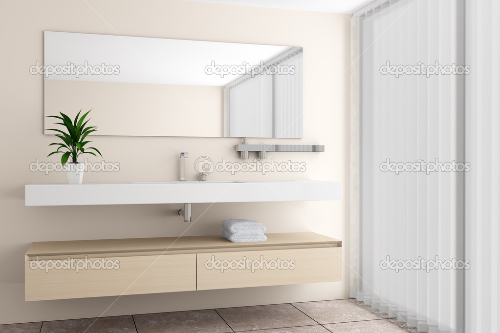 bad mit beige wand ? stockfoto #2751615 - Modernes Bad Beige