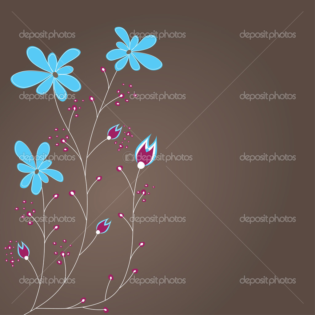 Abstract background with flowers .