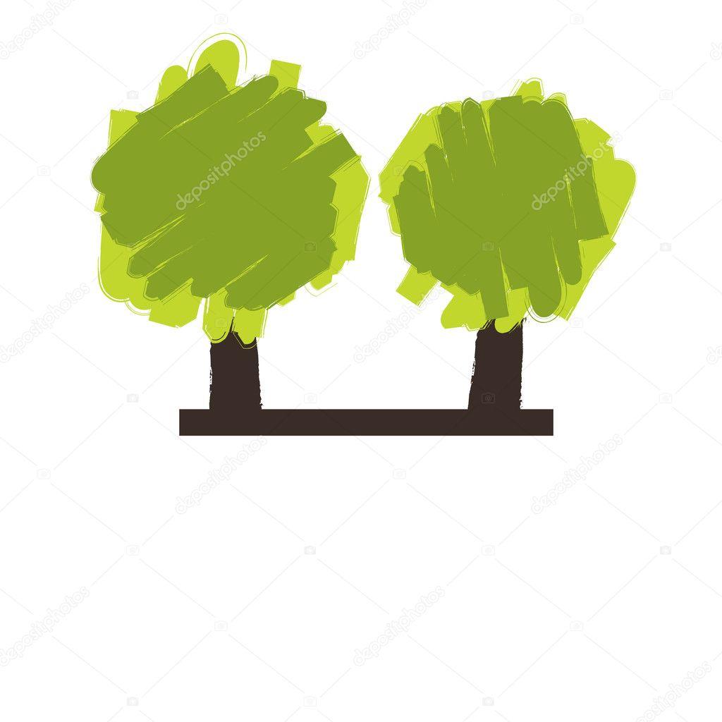 Colorful Autumn tree. Vector illustration