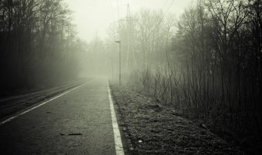 Black And White Empty Road