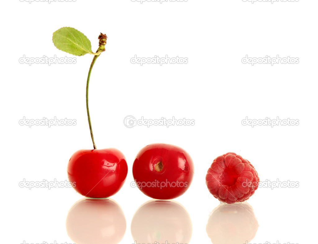 Cherry and raspberry