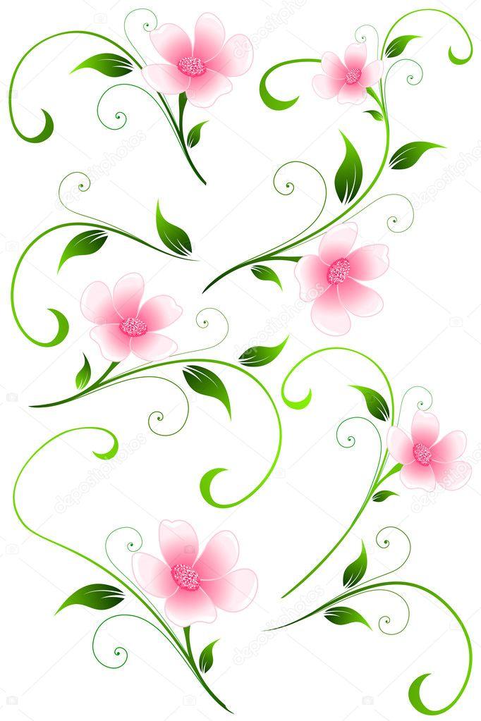 Elementi di design floreali vettoriali vettoriali stock for Elementi di design