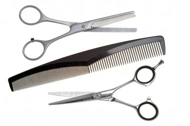 Special scissors for work of hairdresser