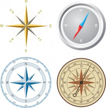 Compass. Vector illustration.