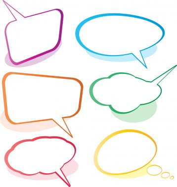 Speech And Thought Bubbles clip art vector