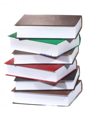 Stack of books on white background stock vector