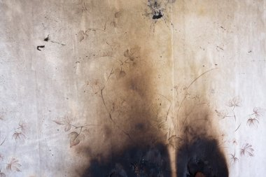 Shabby burnt wall