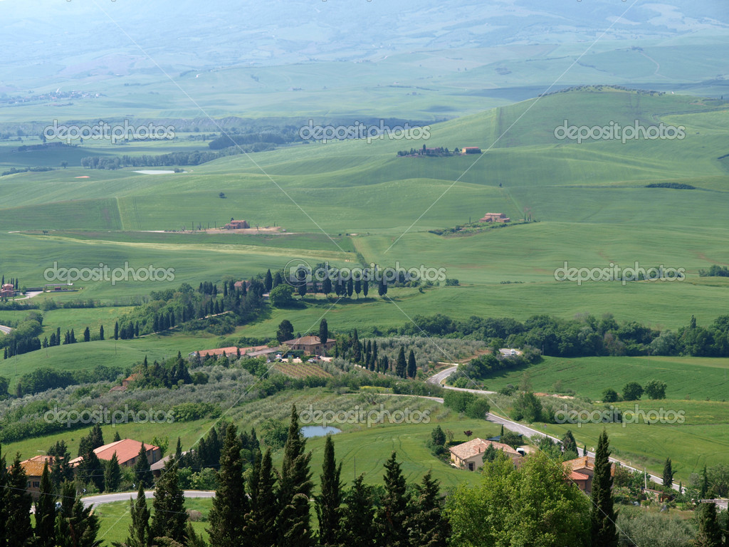The landscape of Val d'Orcia