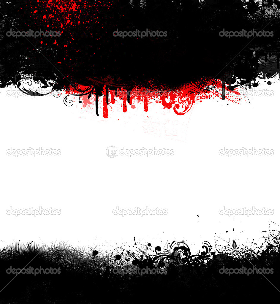 marco de goth grunge negro con manchas de sangre — Foto de stock ...