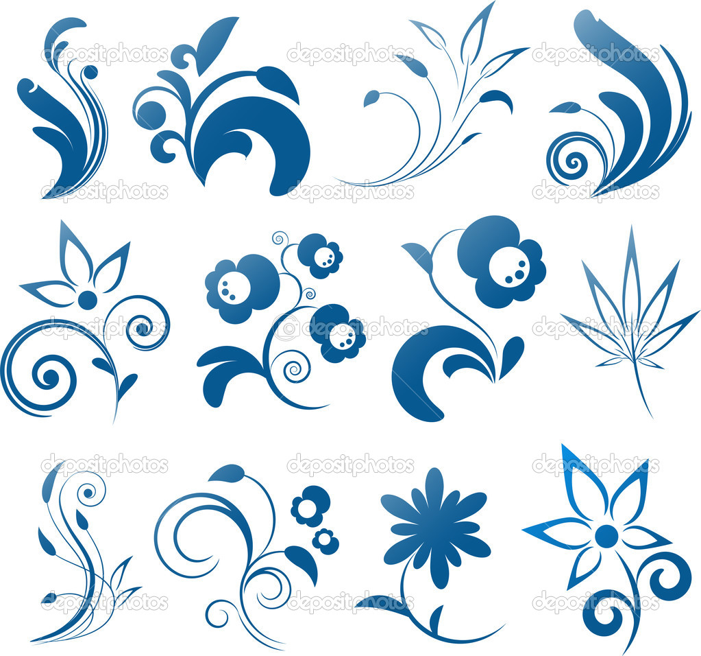 Collection of vector design elements