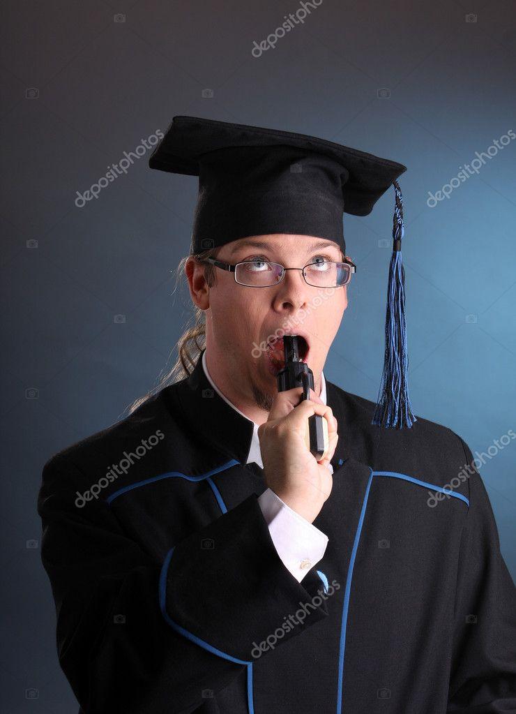 c9e6fad1e hombre joven graduación — Foto de stock © csakisti  3595762