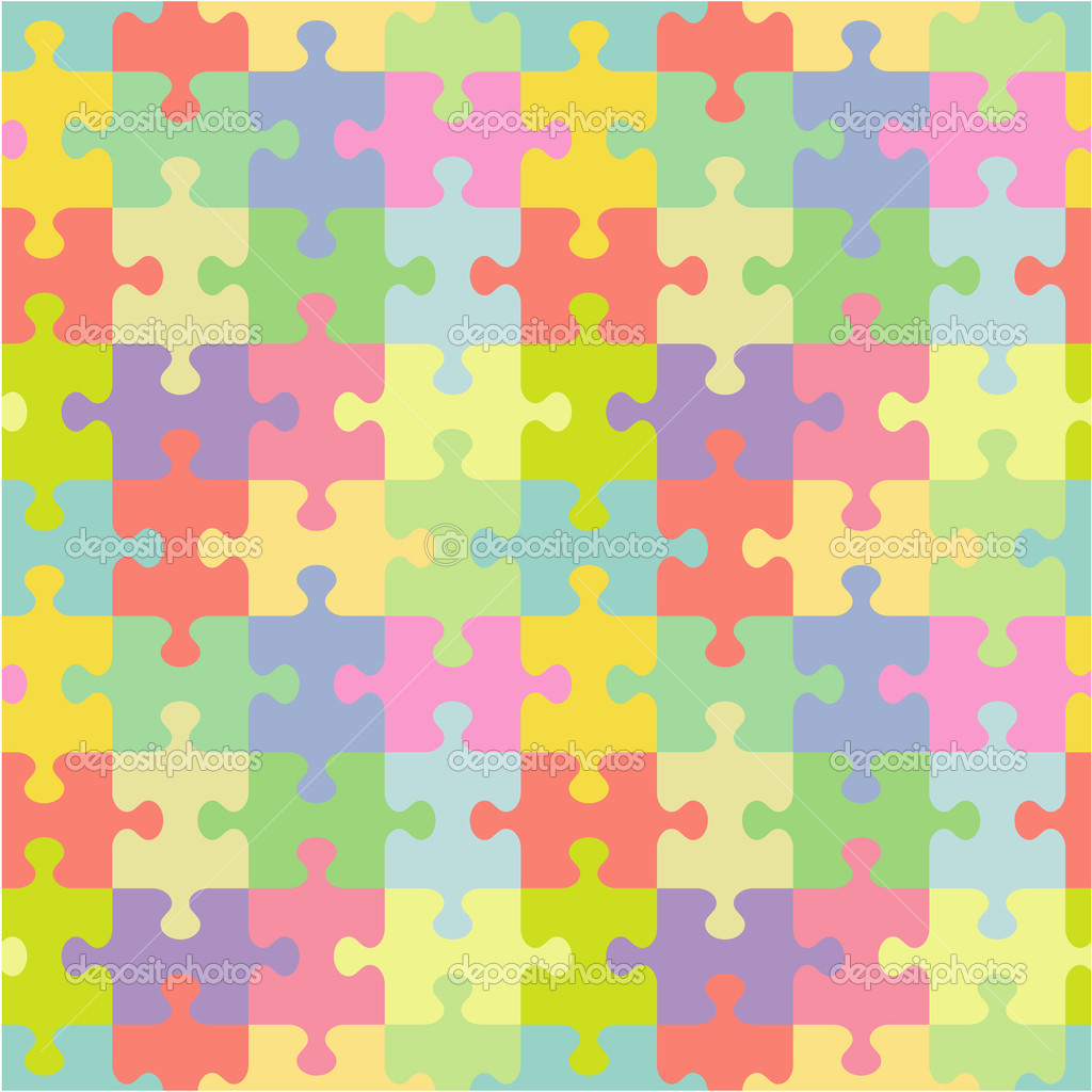 Seamless You See 4 Tiles Jigsaw Puzzle Pattern Print Background Wallpaper Swatch Of Pastel Colors Classic Style Pieces Vector By Ratselmeister
