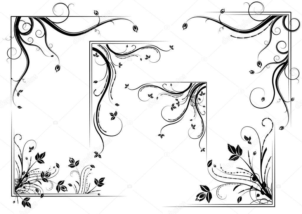 Floral corner set